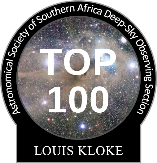 Louis Kloke Top-100 observing pin