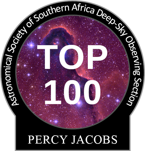 Percy Jacbos Top-100 observing pin