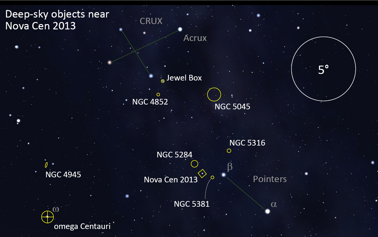 Deep-sky objects near Nova Cen 2013