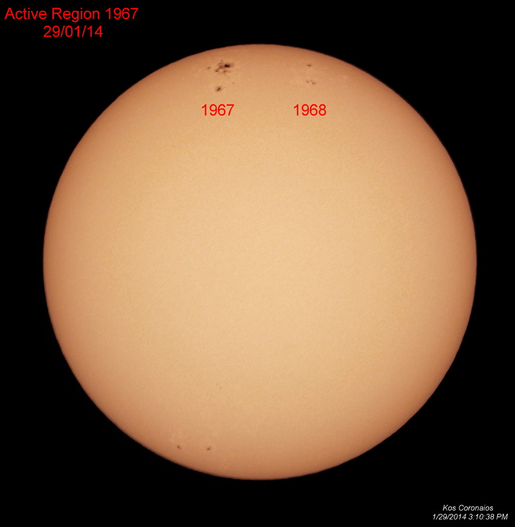 Sunspot AR 1967