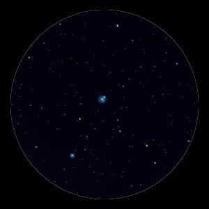 Binocular view of delta Cen