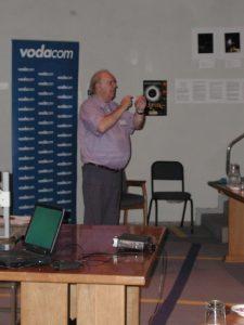 Brian Warner delivering the keynote presentation