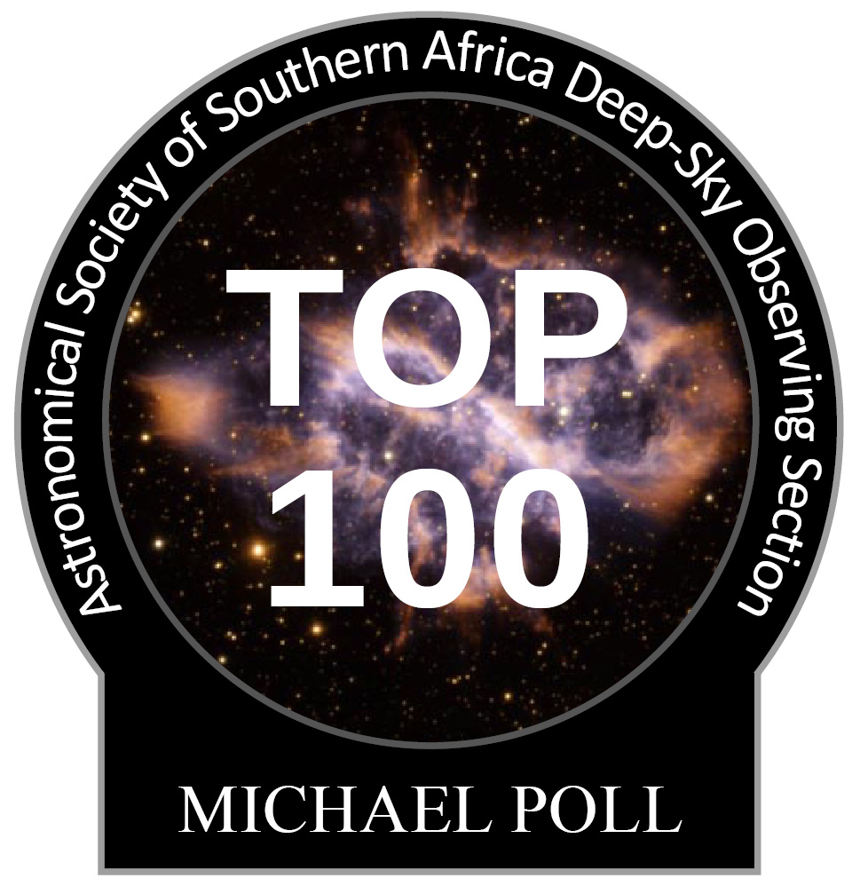 Michael Poll Top-100 observing pin